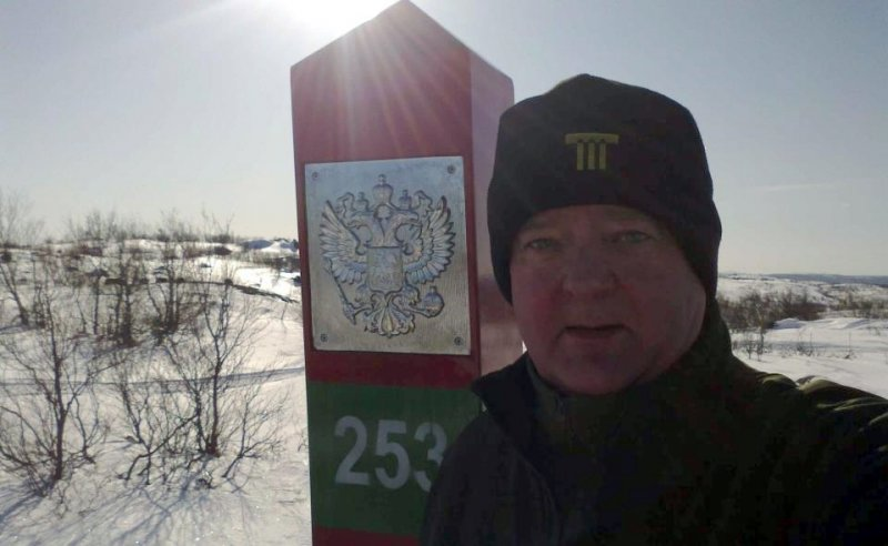 Фруде Берг на российской границе. Фото: Facebook